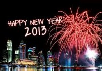 Happy New Year city