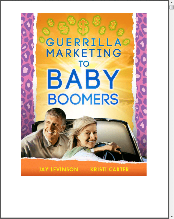 marketing to baby boomers Retail for the generations: how to market to baby boomers, gen x and the millennials various demographics and generations have different shopping habits generational marketing is a way to segment the population as a unique strategy to target different age groups.